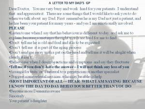letter  to Doctor